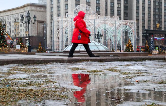 Москва побила очередной рекорд январского тепла