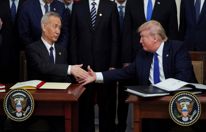 США и Китай подписали соглашение о первой фазе торговой сделки