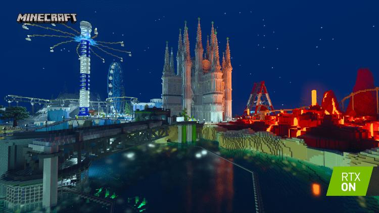 Групповое тестирование видеокарт в Minecraft RTX: тяжелые кубики / Видеокарты
