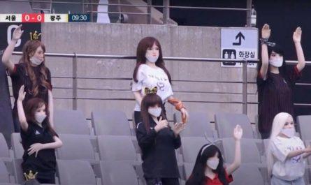 Корейский футбольный клуб извинился за секс-кукол на трибунах