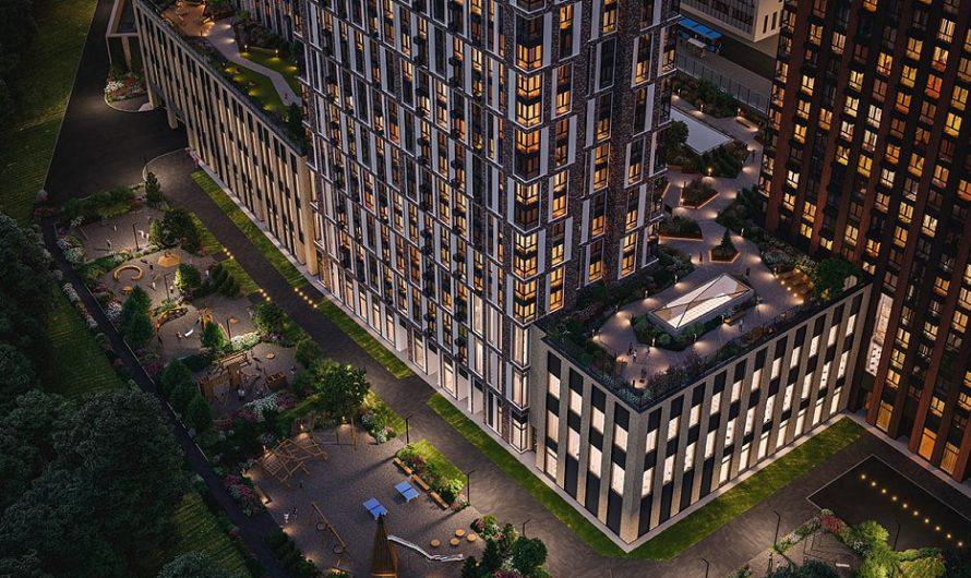 В новом жилом комплексе на севере Москвы завершаются фасадные работы