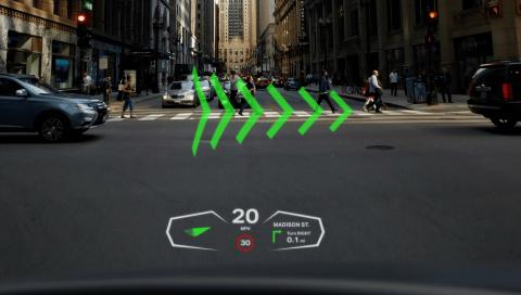 Британская компания разработала автомобильное стекло с дополненной реальностью
