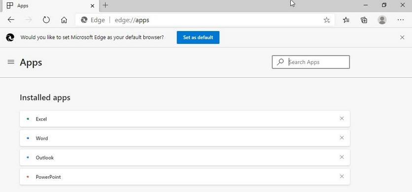 Microsoft Edge самопроизвольно устанавливает приложения на Windows 10
