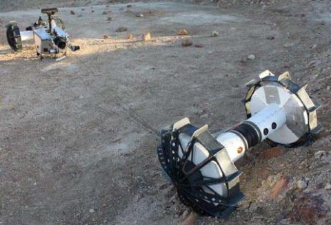 NASA показало способный «разрываться» пополам марсоход