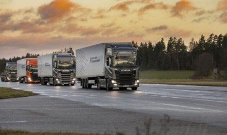 Представлен работающий от энергии солнца грузовик