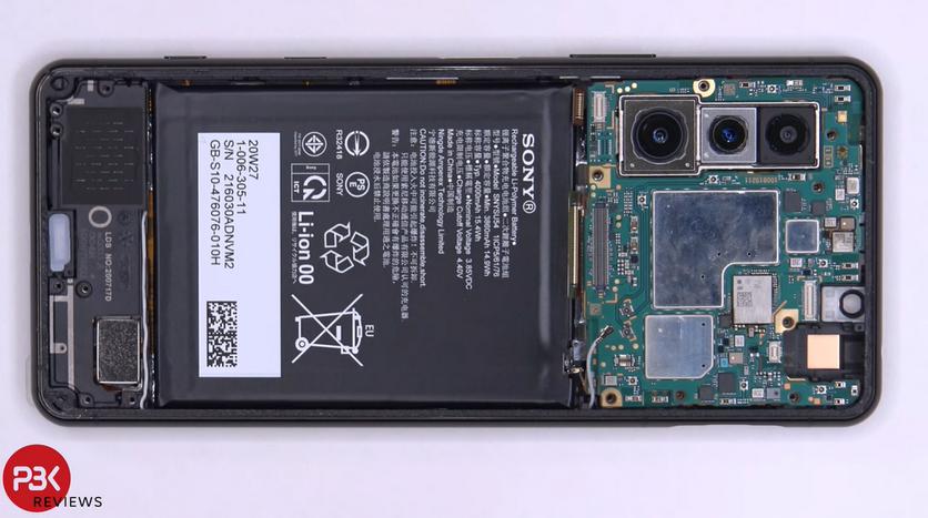 При разборке Sony Xperia 5 II обнаружили систему охлаждения для камеры