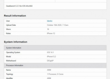 Производительность iPhone 12 и его Pro-версии измерили в Geekbench