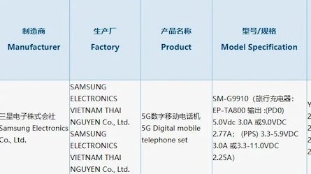 Samsung Galaxy S21 прошёл сертификацию