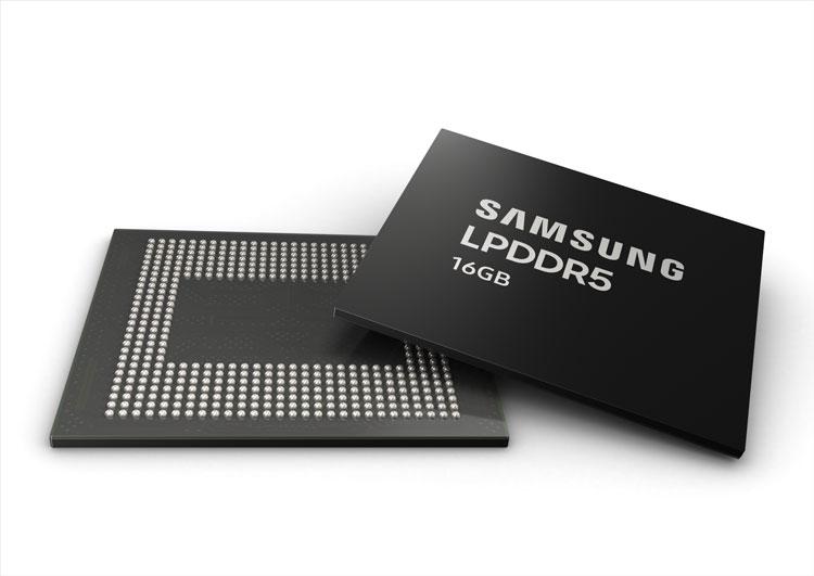 Samsung начала массовый выпуск 16-Гбайт памяти LPDDR5 для смартфонов