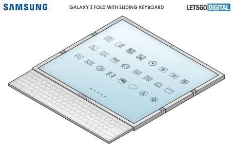 Samsung запатентовала гибкий смартфон с выдвижной клавиатурой