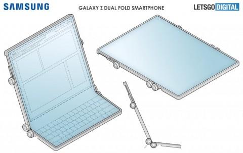 Samsung запатентовала гибрид смартфона, планшета и ноутбука