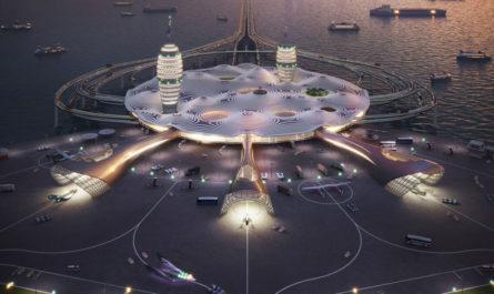 Японские архитекторы показали туристический космопорт будущего