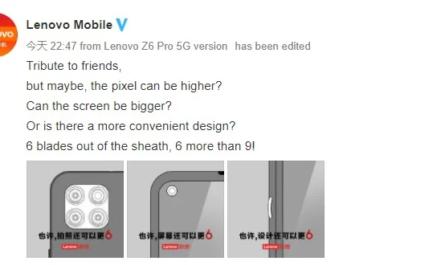 Lenovo раскрыла особенности дизайна своих новых смартфонов