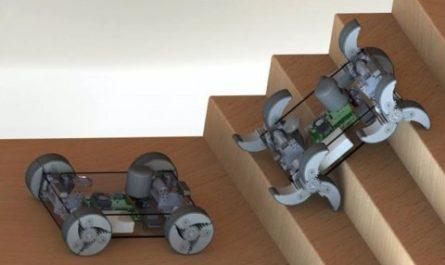 Робот с трансформирующимися колёсами может передвигаться по любой местности