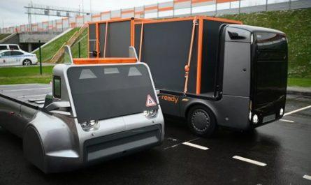Российский беспилотный грузовик на водороде проехал по ЦКАД