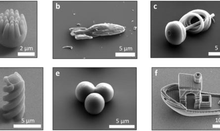 Создана микроскопическая лодка, способная плавать внутри человеческого волоса