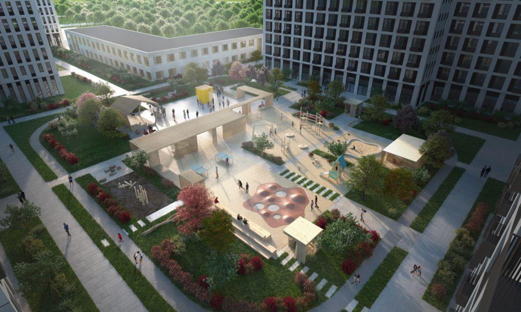 В жилом комплексе «Вестердам» завершено возведение монолитного каркаса трех корпусов