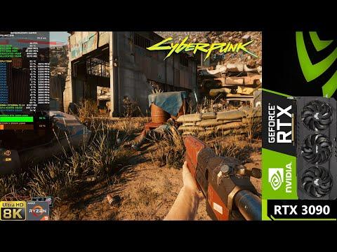 Cyberpunk 2077 запустили на NVIDIA GeForce RTX 3090 в 8К [ВИДЕО]