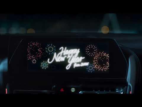Автомобили BMW поздравляют владельцев с Рождеством и Новым годом