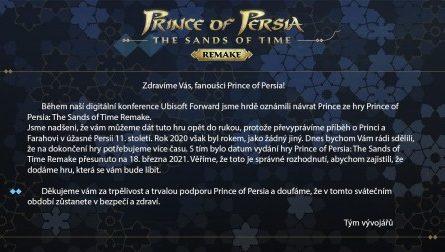 Авторы ремейка Prince of Persia сообщили о переносе игры. А затем использовали Пески Времени