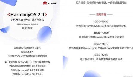 HUAWEI назвала официальную дату выхода HarmonyOS 2.0 для смартфонов