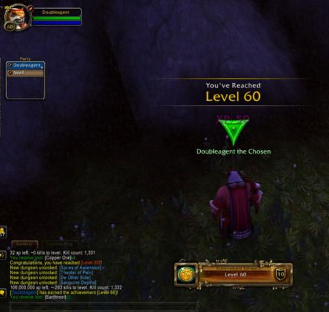 Игрок в World of Warcraft: Shadowlands прокачался до 60-го уровня, собирая траву