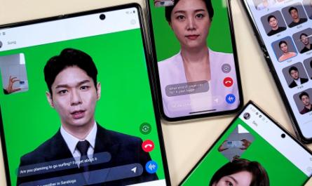Интерфейс «цифрового человека» NEON показали на смартфонах Samsung и Apple