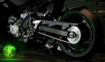 Kawasaki представила прототип первого в мире гибридного мотоцикла