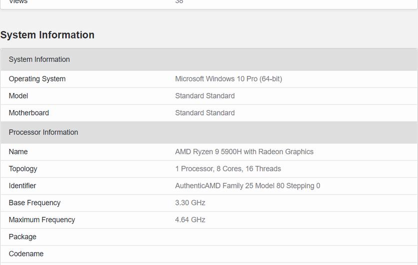 Мобильный AMD Ryzen 9 5900H оказался мощнее декстопного Intel Core i9-10900