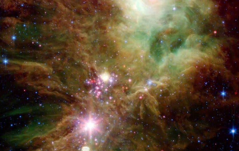NASA показало похожее на новогоднюю ёлку скопление звёзд