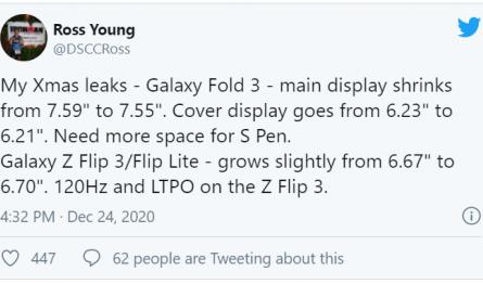 Опубликованы новые подробности о грядущих складных смартфонах Samsung