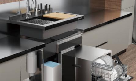 Xiaomi представила модульную кухню с посудомойкой и умной раковиной