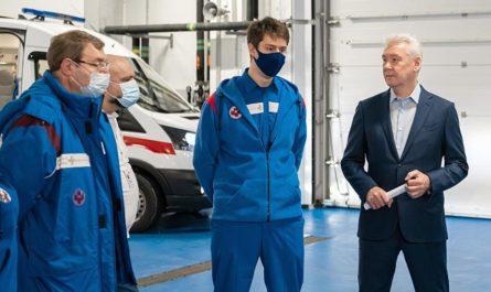 Собянин осмотрел новую подстанцию Скорой помощи в Коммунарке