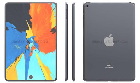 Apple iPad mini 6 с подэкранным сканером Touch ID показали на рендерах