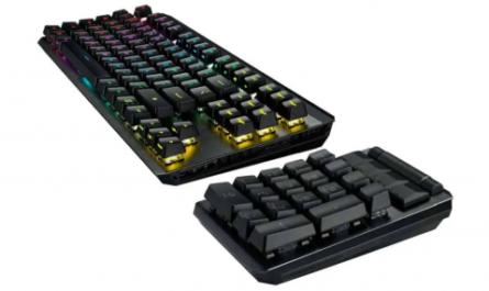 ASUS представила киберспортивный 4K-монитор и модульную игровую клавиатуру