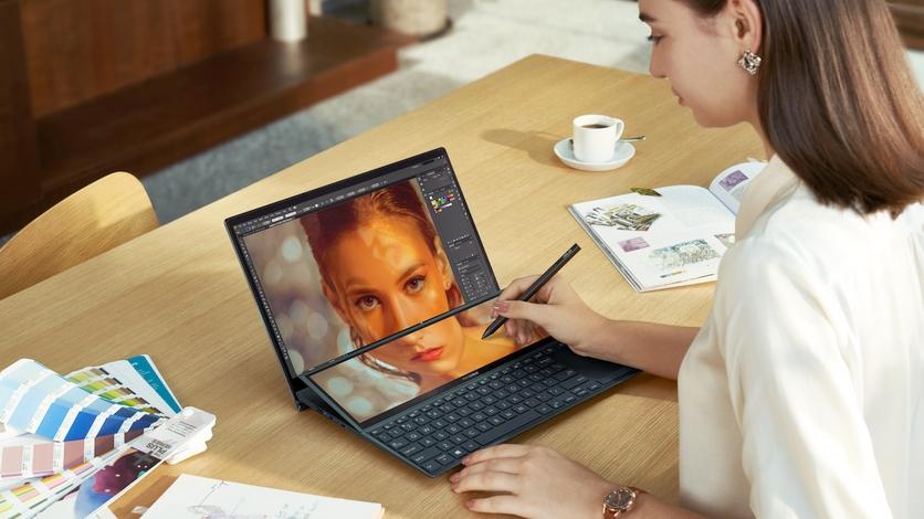 ASUS представила новые ноутбуки с двумя дисплеями для офиса и гейминга