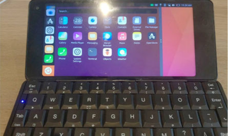 Британский производитель показал грядущий смартфон с QWERTY-клавиатурой на Ubuntu Touch