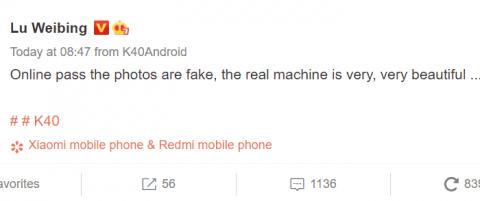 Глава Redmi назвал рендеры флагманского K40 уродливыми