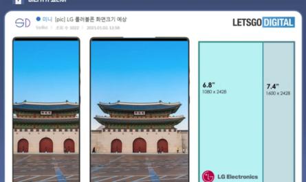Характеристики и рендеры растягиваемого смартфона LG Rollable слили в сеть