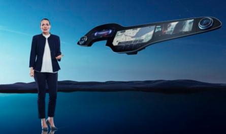 Mercedes-Benz разработала 56-дюймовый сенсорный экран для автомобиля [ВИДЕО]