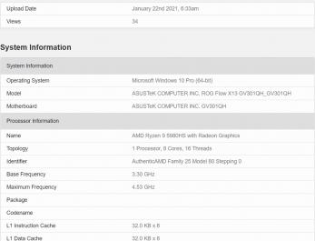 Производительность флагмана AMD Ryzen 9 5980HS сравнили с предшественником