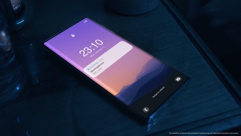 Samsung внезапно показала смартфон без фронтальной камеры