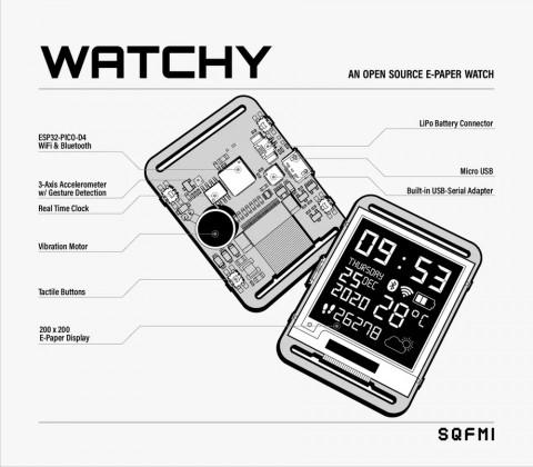 Выпущены самодельные модульные смарт-часы за $50