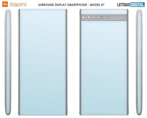 Xiaomi запатентовала два новых смартфона с гибким «сплошным» дисплеем