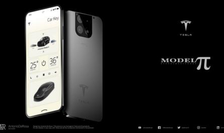 Дизайнер создал концепт уникального смартфона Tesla Model P