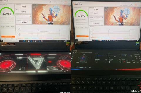 Энтузиасты разогнали GeForce RTX3080 на ноутбуках ASUS ROG