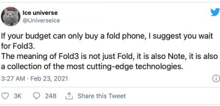 Названа важная особенность сгибаемого Samsung Galaxy Z Fold3