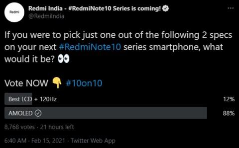 Redmi спросила, какой экран хотят покупатели Note 10