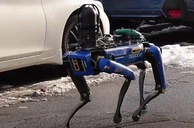 Робопёс Boston Dynamics участвует в задержании преступников