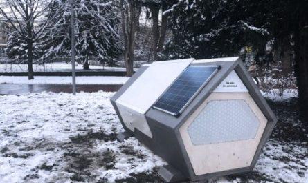 В Германии появились автономные капсулы для бездомных